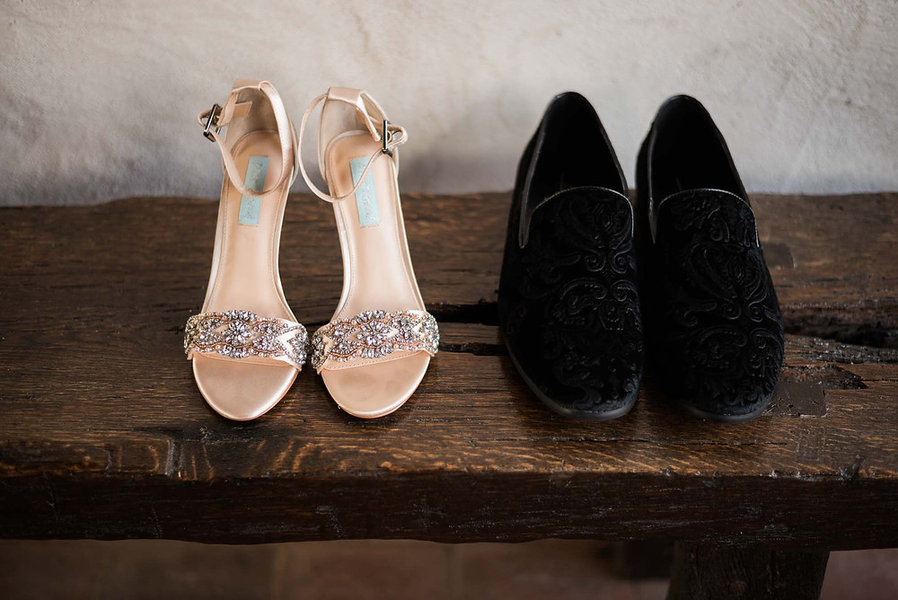 Velvet Groom Loafers and Betsey Johnson Bridal Heels
