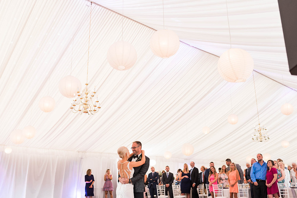 Bride and Groom's First Dance at Brandywine Manor House in the Daytime