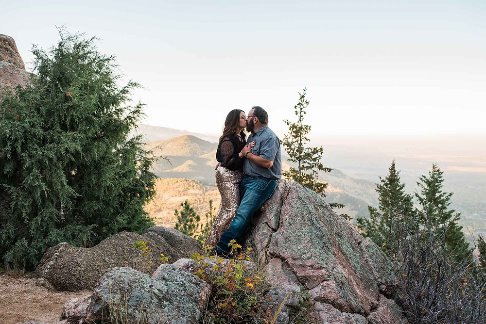 Engagement Session on Flagstaff Mountain in Boulder