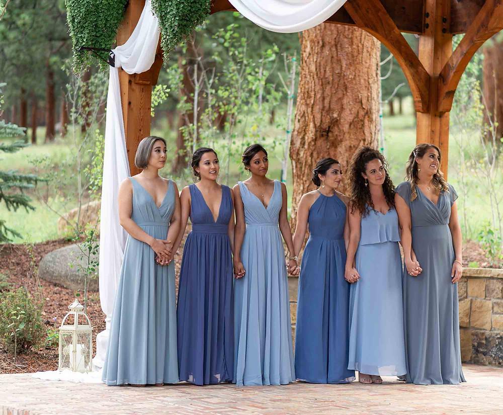 Mismatched Bridesmaid Dresses Blue