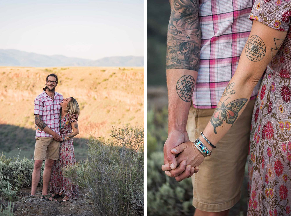 August Engagement Session in Taos New Mexico