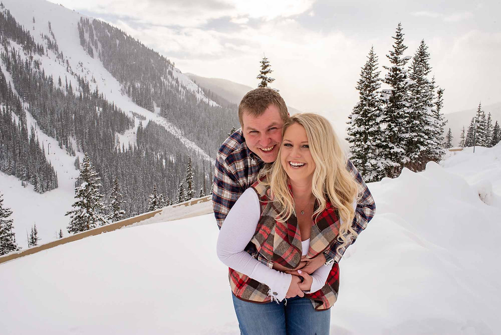 Rocky Mountain Engagement Session in December
