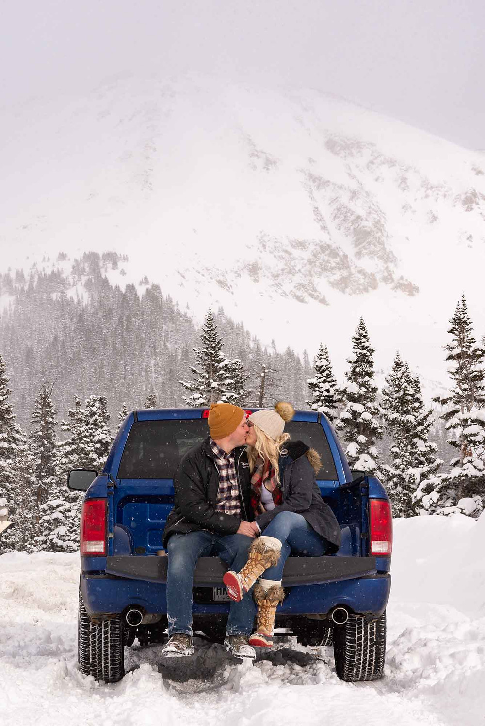 Dodge Truck Engagement Session in Colorado