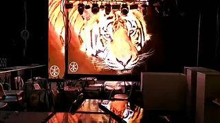 Внутренний составной LED видео экран высокого разрешения для ресторана.