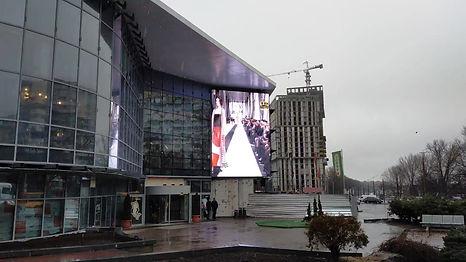 LED видео экран на фасаде ТРЦ ДАФИ