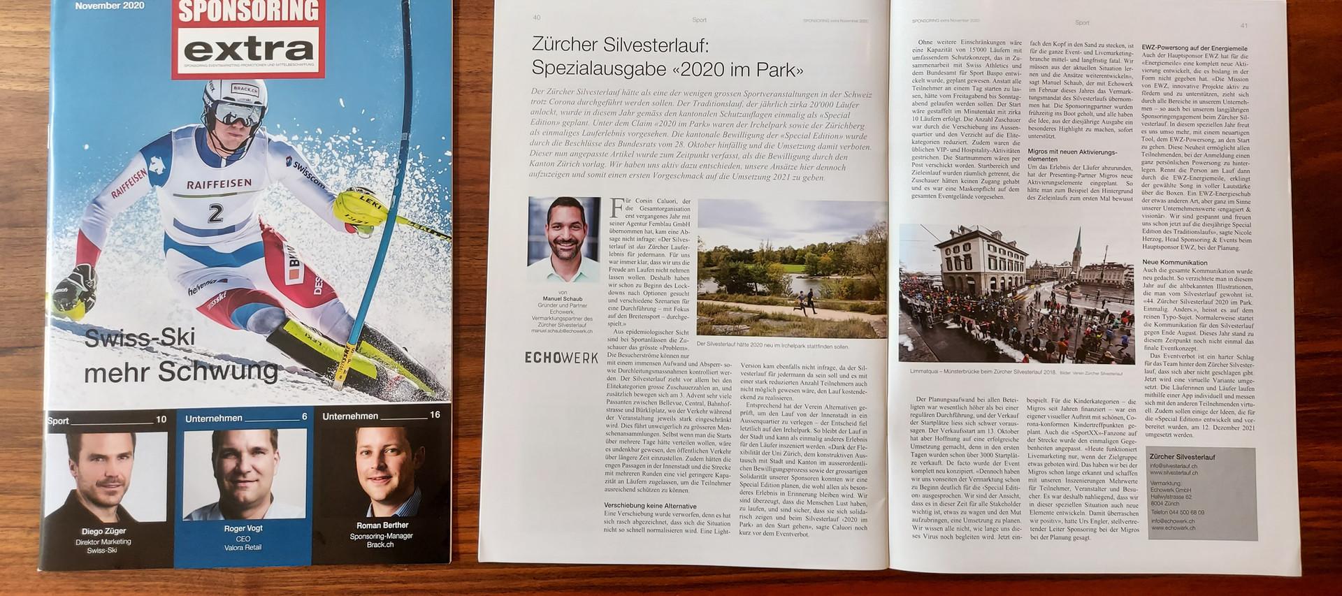 "Bericht Zürcher Silvesterlauf ""2020 im Park"""