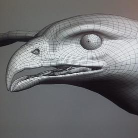 3D Modell Habicht