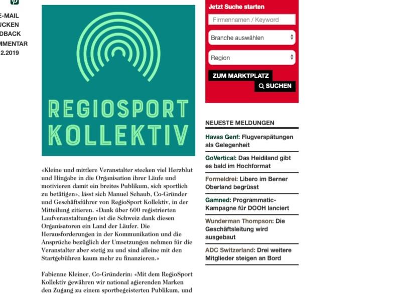 Gründung RegioSport Kollektiv