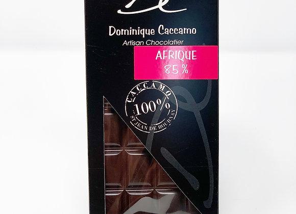 tablette de chocolat noir Afrique 85%