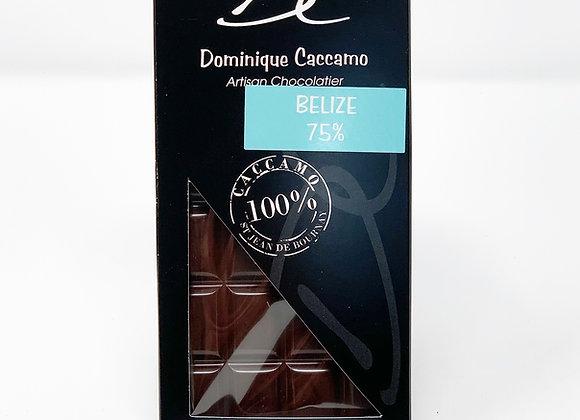Tablette de chocolat noir Bélize 75%