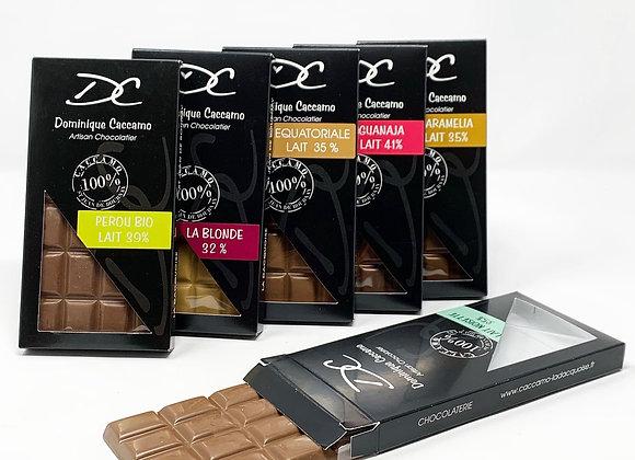 Box tablettes chocolat au lait