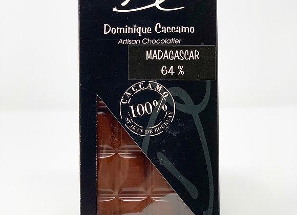 Tablette de chocolat noir Madagascar 64%