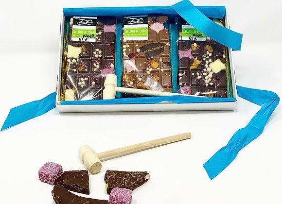 Coffret tablettes de chocolat Fantaisie de l'Isère