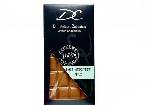 tablette de chocolat lait noisette 35%