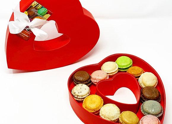 Coffret Coeur Macarons