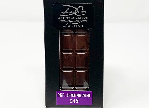 Tablette de chocolat Noir République Dominicaine 64%