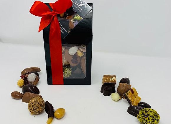 Etui de chocolats fourrés assortis