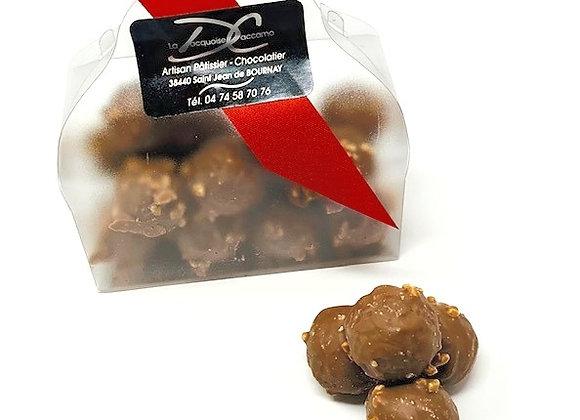 Pâtinette: rocher chocolat lait noisettes