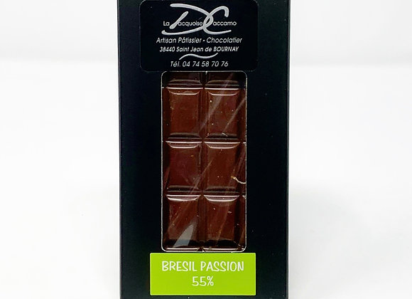Tablette de chocolat noir Brésil Passion 55%