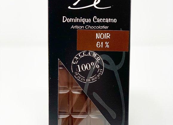 Tablette de chocolat Noir 61%