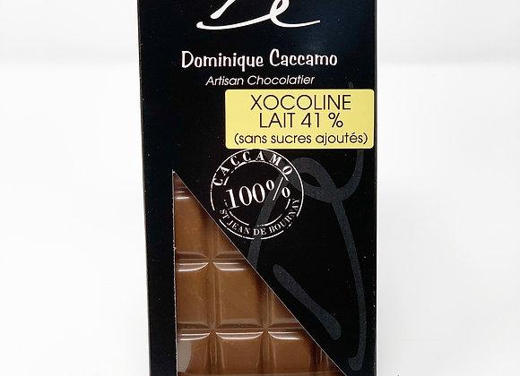 Tablette de chocolat lait Xocoline 41%