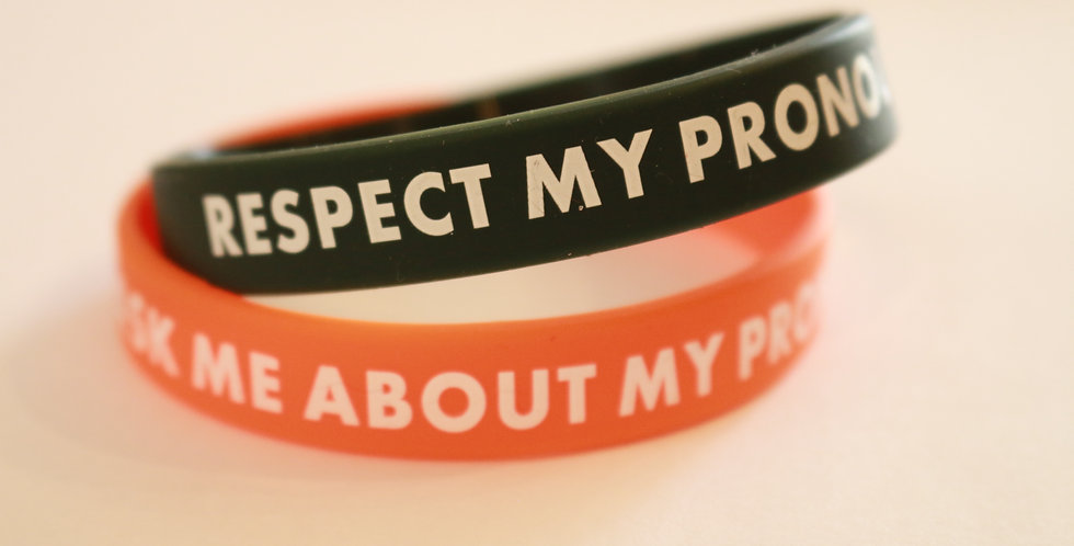 Respect My Pronouns Wristband
