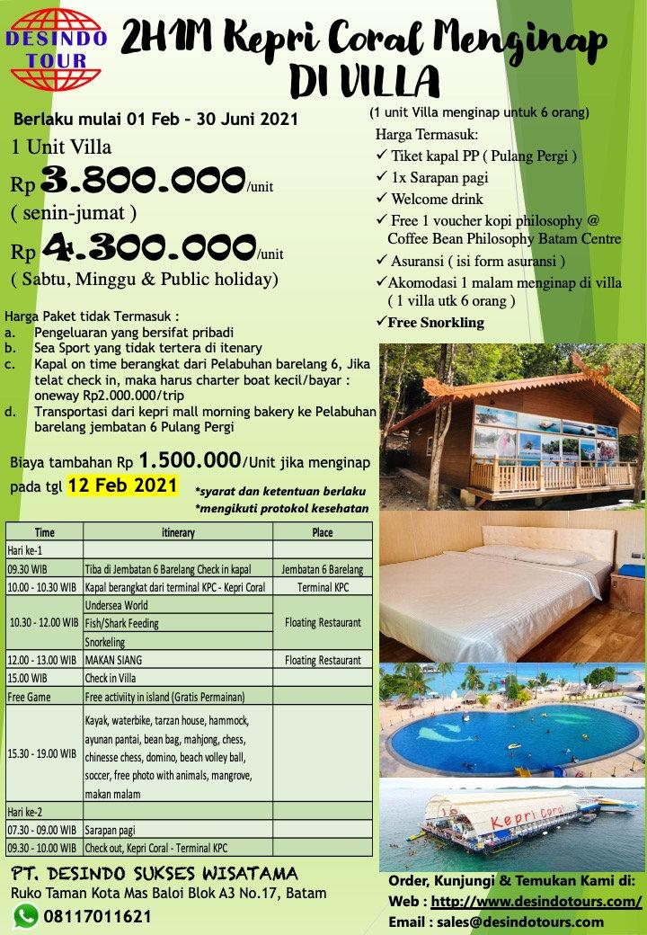 NEW PROMO 2D1N Kepri Coral Villa.JPG