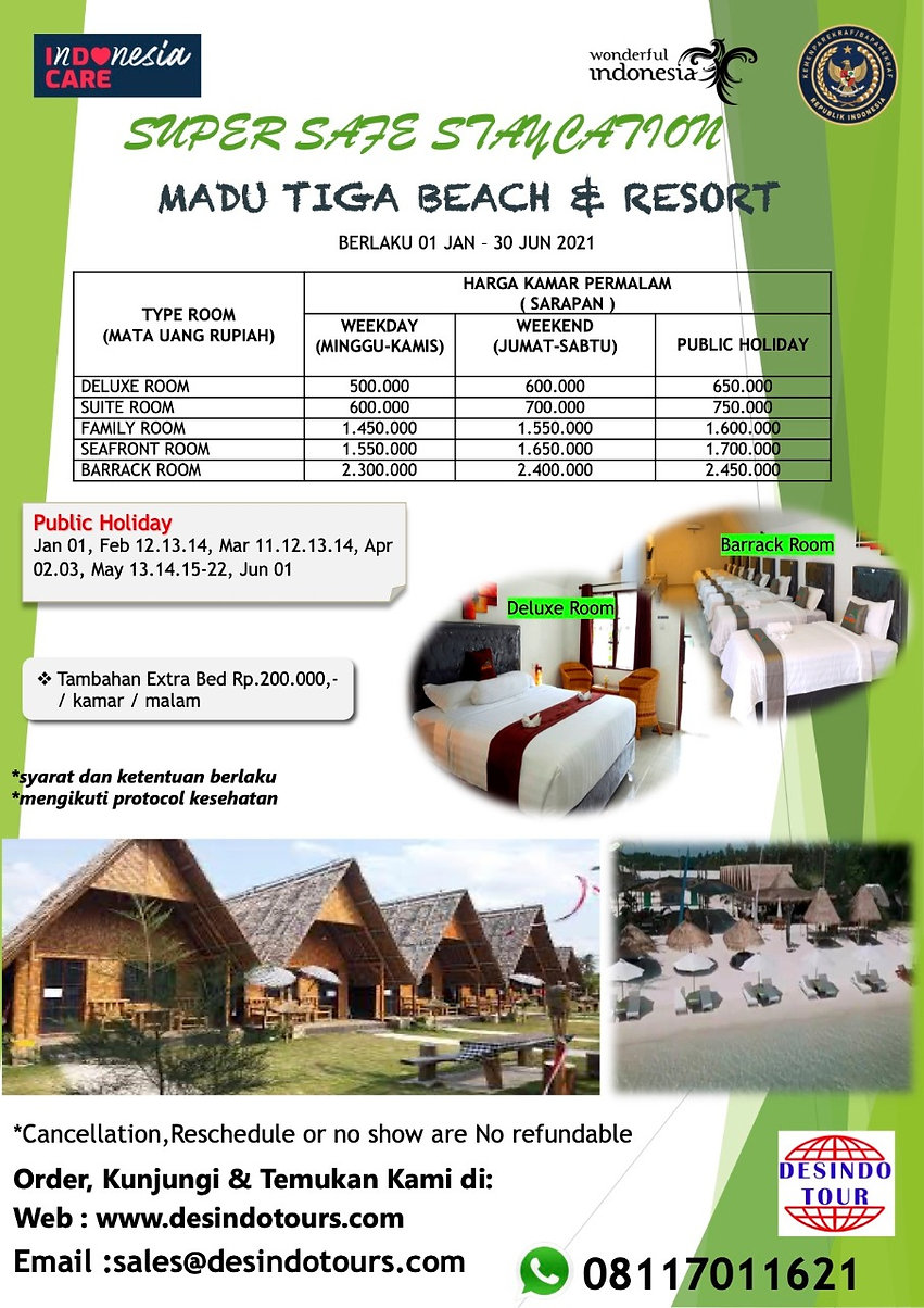 NEW PROMO 2D1N STAYCATION AT MADU TIGA B