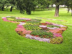 Ogród z kwiatami