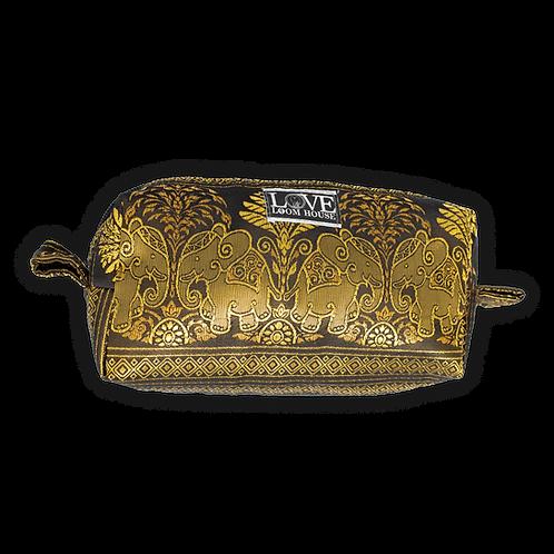 Large Gold Elephant Travel Bag