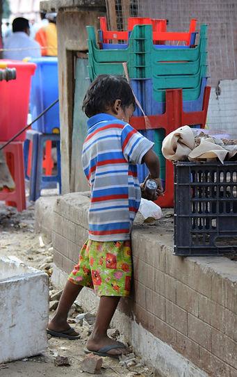 Myanmar Orphan Street Worker