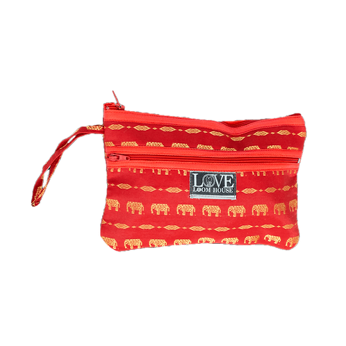Elephant Wristlet Red Style