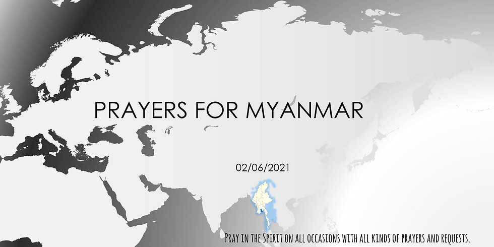 Prayers for Myanmar