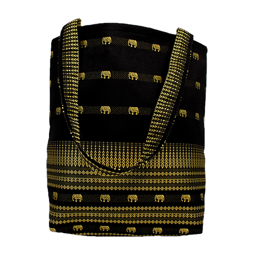 Black & Gold Elephant Tote Bag