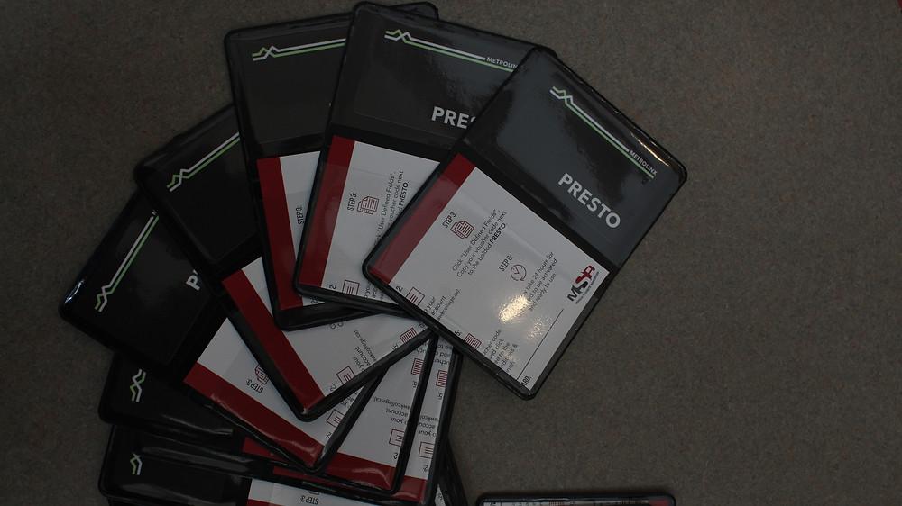 A PRESTO card holder.