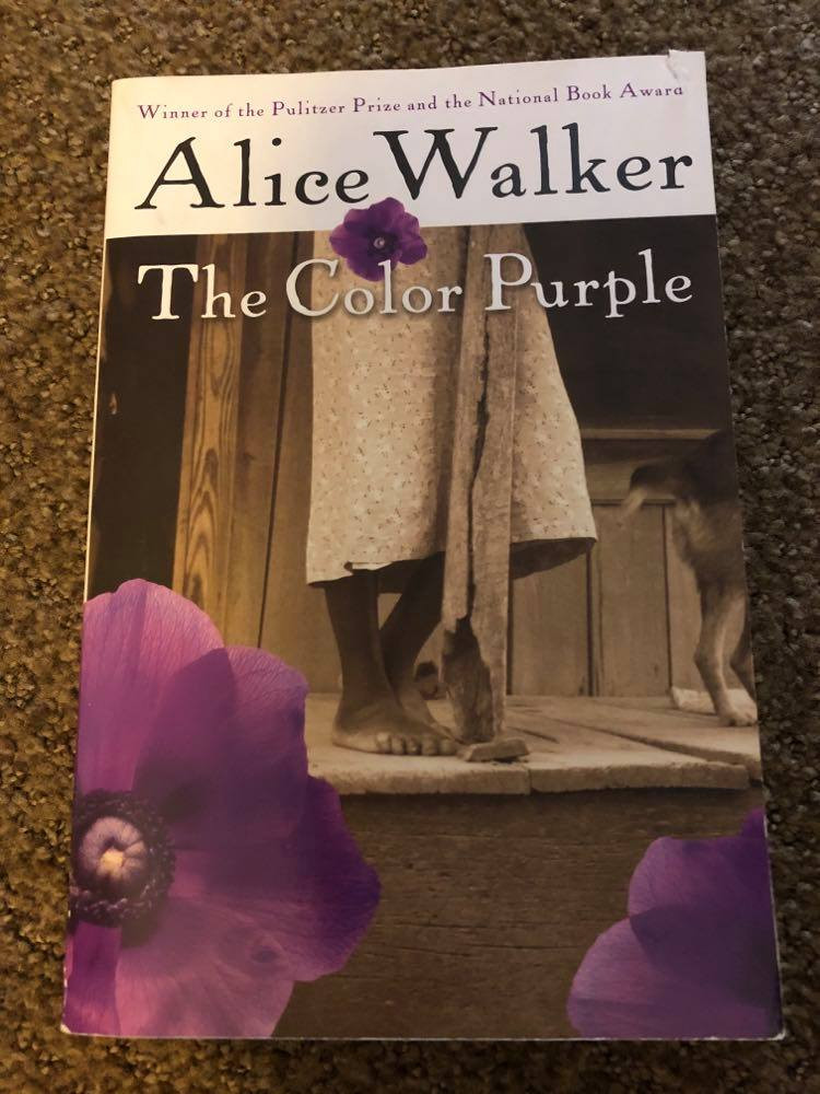 The Color Purple by Alice Walker book cover.