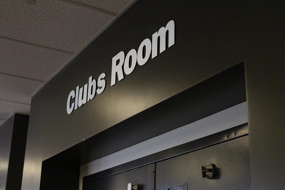 The door leading into the MSA Clubs room at Mohawk College's Fennell campus.