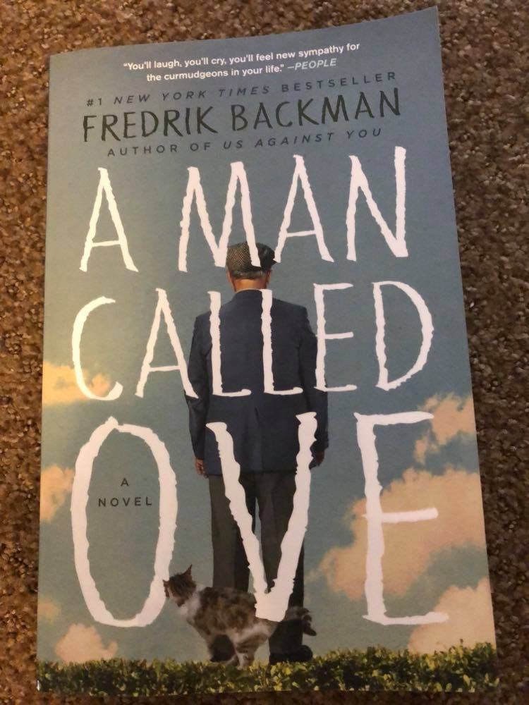 A Man Called Ove by Fredrik Backman book cover.