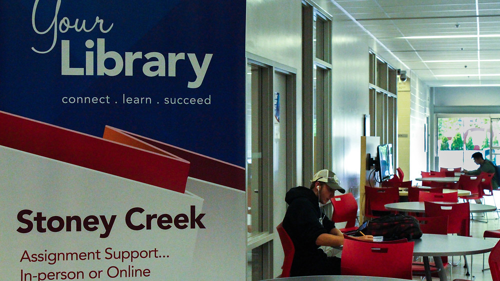 The library at Mohawk's Stoney Creek campus.