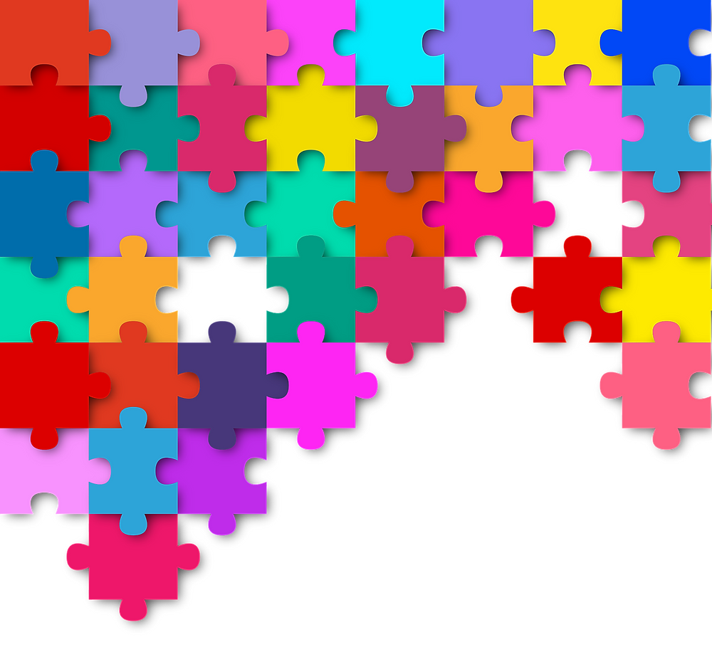 Puzzle pieces put together.
