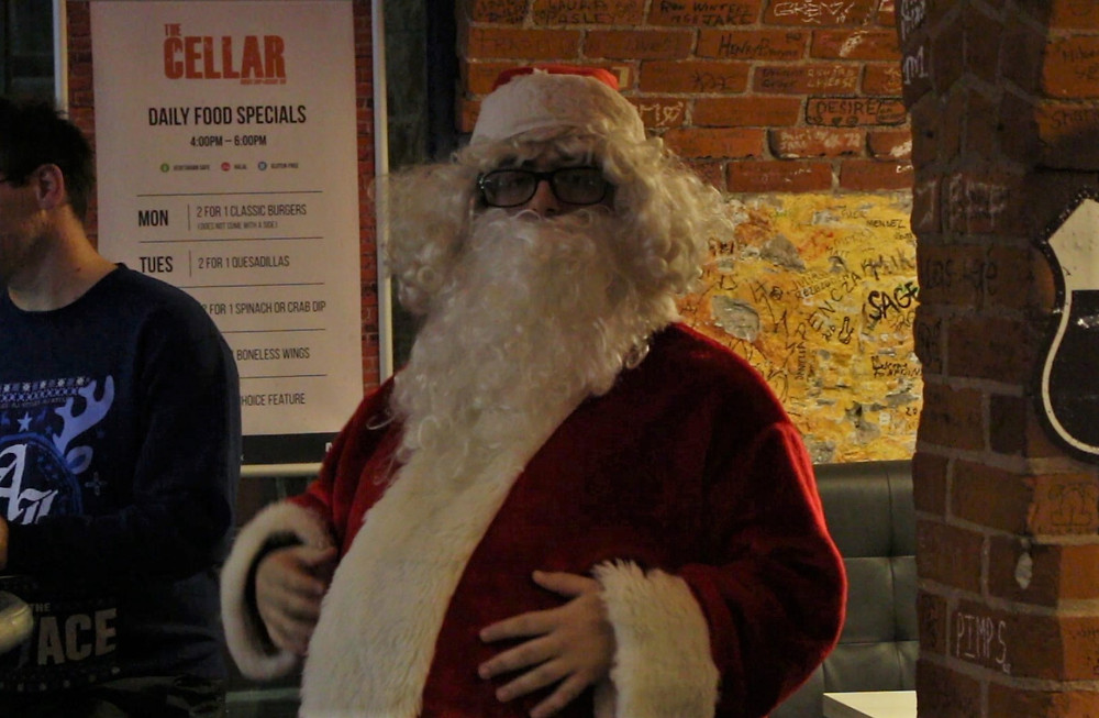 Santa Claus at The Cellar.