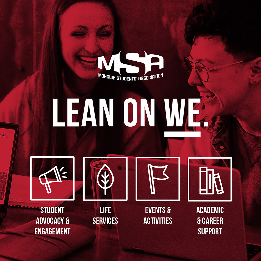 An MSA Lean on WE promotional graphic.