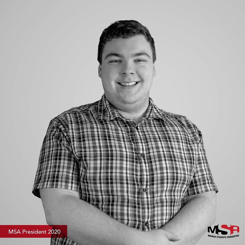 A portrait of Garrett Blair, the 2020/2021 MSA President.