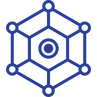 network (cobweb to represent connection/network) icon