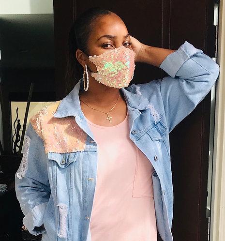 Sequins Queen Face Mask