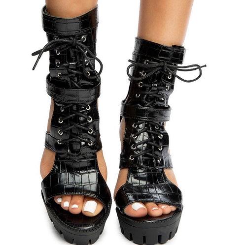 Crocodile Platform Heels