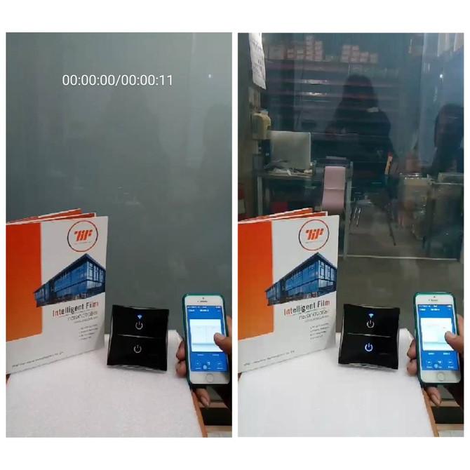 ฟิล์มไฟฟ้า กระจกเปลี่ยนสี ฟิล์มอัจฉริยะ Wifi Automation Smart Control
