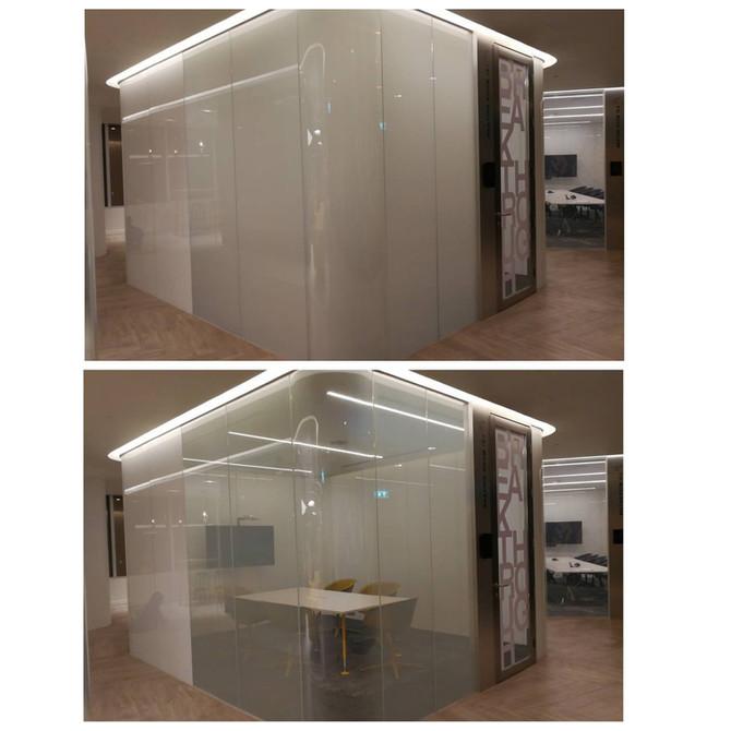 กระจกไฟฟ้า ฟิล์มไฟฟ้า Smart Film Smart Glass โค้ง อัตราส่วนที่ดี
