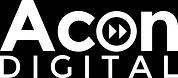 Acon Digital Logo (white logo for dark b