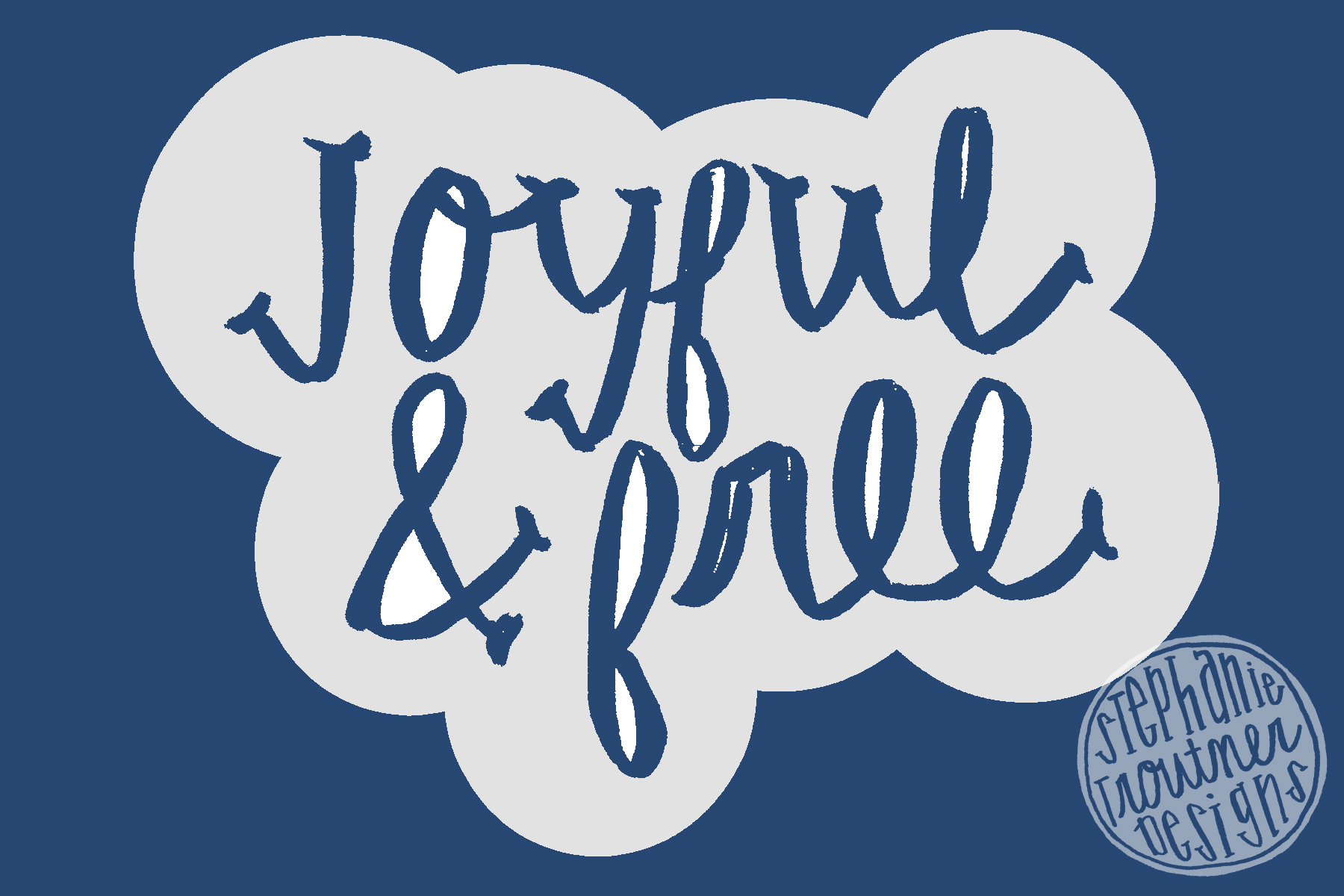 Joyful&Free: surface pattern design
